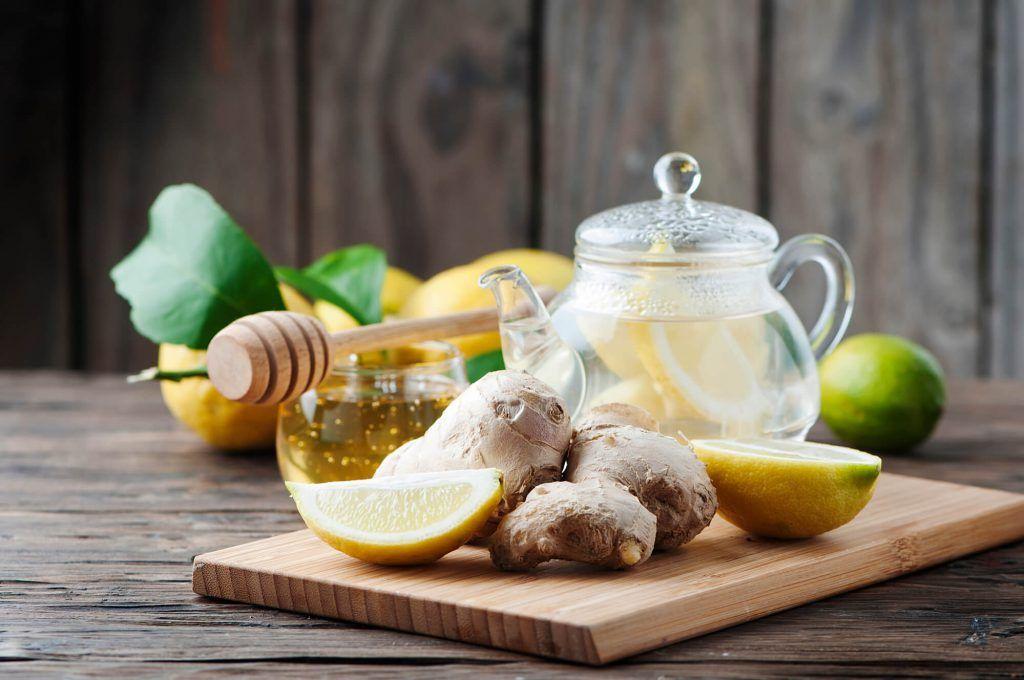 infusion de jengibre limon y miel