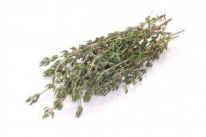 hojas de tomillo