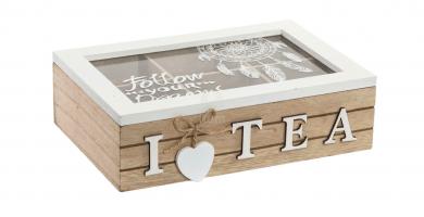 caja de te madera