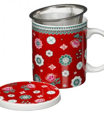 taza de te con filtro y tapa